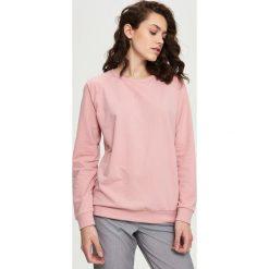 Bluzy damskie: Gładka bluza – Różowy