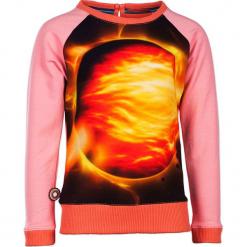 """Bluza """"Heatwave"""" w kolorze jasnoróżowo-pomarańczowym ze wzorem. Brązowe bluzy dziewczęce rozpinane marki 4FunkyFlavours Kids, z nadrukiem. W wyprzedaży za 102,95 zł."""