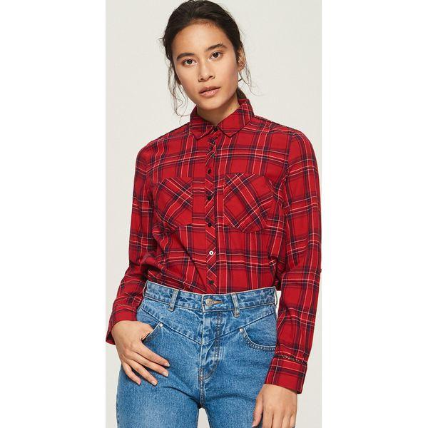 268b6371240e2d Koszula w kratę - Czerwony - Czerwone koszule damskie Sinsay, s. W ...