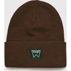 Wrangler - Czapka. Brązowe czapki zimowe męskie Wrangler, na zimę, z dzianiny. Za 79,90 zł.