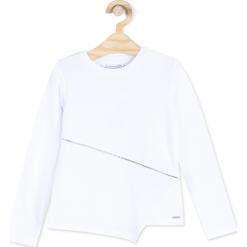Koszulka. Białe bluzki dziewczęce bawełniane marki JUST ME, z długim rękawem. Za 34,90 zł.
