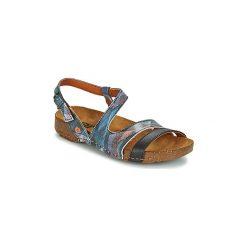 Sandały Art  I BREATHE 1003F. Niebieskie sandały trekkingowe damskie Art, z kauczuku. Za 279,20 zł.