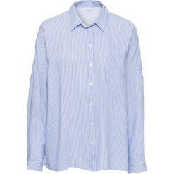 Bluzki damskie: Must have: bluzka koszulowa z nadrukiem bonprix niebiesko-biały w paski