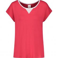 Koszulka w kolorze różowym. Czerwone t-shirty damskie marki Taifun, w paski, z okrągłym kołnierzem. W wyprzedaży za 43,95 zł.