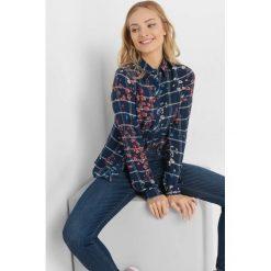 Koszula w kratę ze wzorem. Czarne koszule damskie marki Orsay, xs, z bawełny, z dekoltem na plecach. Za 89,99 zł.