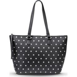 Shopper bag damskie: Torba shopper bonprix czarno-srebrny