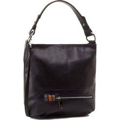 Torebka CREOLE - RBI10131 Granat Lico/Czarny. Niebieskie torebki klasyczne damskie Creole, ze skóry, duże. W wyprzedaży za 309,00 zł.