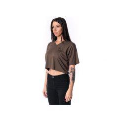 Damski panelled V-T-shirt 17. Zielone t-shirty damskie Theg clothing, s, z haftami, z elastanu, z dekoltem w serek. Za 159,16 zł.