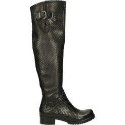 Kozaki - 310-51816-R N. Czarne buty zimowe damskie Venezia, ze skóry. Za 359,00 zł.