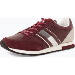 Tommy Jeans - Tenisówki męskie z dodatkiem skóry, czerwony. Czerwone tenisówki męskie Tommy Jeans, z jeansu, na sznurówki. Za 249,95 zł.