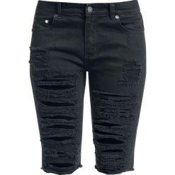 Fashion Victim Destroyed Shorts Krótkie spodenki damskie czarny. Czarne bermudy damskie Fashion Victim. Za 99,90 zł.