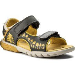 Sandały CLARKS - Rocco Surf 261316777 Grey Combi Leather. Szare sandały chłopięce Clarks, z materiału. W wyprzedaży za 159,00 zł.