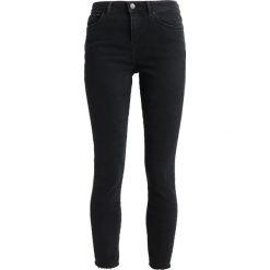 New Look FRAY HEM DION Jeans Skinny Fit black. Czarne jeansy damskie marki New Look, z materiału, na obcasie. Za 139,00 zł.