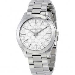 """Zegarek kwarcowy """"Slim Runway"""" w kolorze srebrnym. Szare, analogowe zegarki damskie marki Michael Kors, srebrne. W wyprzedaży za 454,95 zł."""