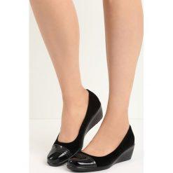 Buty ślubne damskie: Czarne Czółenka Shannon