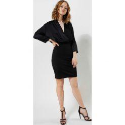 Sukienki hiszpanki: Czarna Sukienka Silk Shades