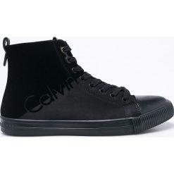 Calvin Klein Jeans - Trampki Ajax. Czarne trampki męskie marki Calvin Klein Jeans, z gumy, na sznurówki. Za 449,90 zł.