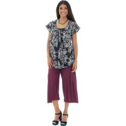 Odzież damska: Koszulka w kolorze czarno-białym