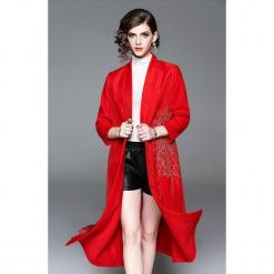 Płaszcz w kolorze czerwonym. Czerwone płaszcze damskie marki Zeraco. W wyprzedaży za 389,95 zł.