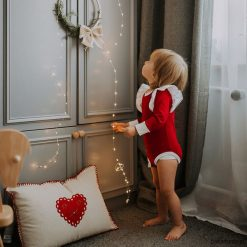Body - świąteczne Rubin. Białe body niemowlęce Pakamera, z jersey, z długim rękawem. Za 89,00 zł.