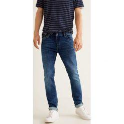 Mango Man - Jeansy Tim3. Niebieskie jeansy męskie Mango Man, z bawełny. Za 199,90 zł.