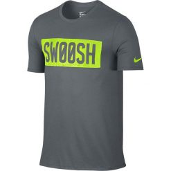 Nike Koszulka męska Mesh Swoosh Block Tee szara r. M (806299 065). Szare koszulki sportowe męskie Nike, m, z meshu. Za 101,21 zł.