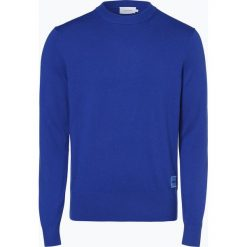 Calvin Klein - Sweter męski, niebieski. Niebieskie swetry klasyczne męskie marki Calvin Klein, m, z dzianiny. Za 449,95 zł.