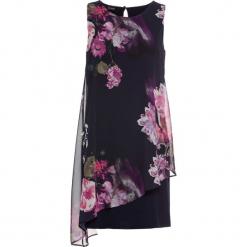 Sukienka z dżerseju z szyfonową wstawką bonprix ciemnoniebieski w kwiaty. Niebieskie sukienki asymetryczne bonprix, w kwiaty, z dżerseju, z asymetrycznym kołnierzem. Za 129,99 zł.