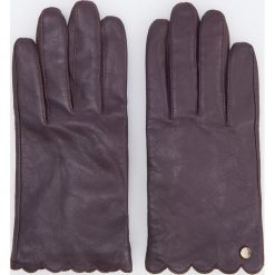 Skórzane rękawiczki - Bordowy. Czerwone rękawiczki damskie Reserved. Za 79,99 zł.