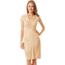 Sukienki hiszpanki: Sukienka w kolorze beżowo-ecru