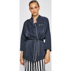 Emporio Armani - Bluzka piżamowa. Szare koszule nocne i halki Emporio Armani, l, z materiału. W wyprzedaży za 329,90 zł.