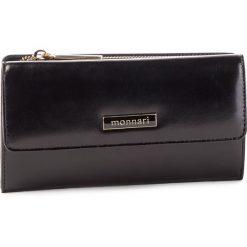 Duży Portfel Damski MONNARI - PUR0720-020 Black. Brązowe portfele damskie marki Monnari, w paski, z materiału, średnie. W wyprzedaży za 159,00 zł.