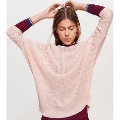 Sweter z kimonowym rękawem - Kremowy. Białe swetry klasyczne damskie marki Cropp, l. Za 69,99 zł.