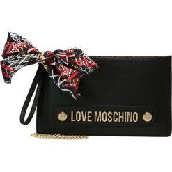 Love Moschino SCARF CLUTCH Kopertówka nero. Czarne puzderka Love Moschino. Za 589,00 zł.