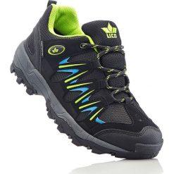 Buty sportowe męskie: Buty outdoorowe marki Lico z membraną Comfortex bonprix czarno-limonka-niebieski