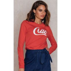 Bluzy rozpinane damskie: Colourful Rebel Bluza Ciao - Red