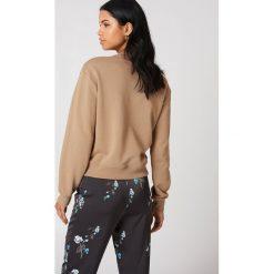 NA-KD Basic Bluza basic - Beige. Różowe bluzy damskie marki NA-KD Basic, prążkowane. Za 100,95 zł.