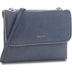 Torebka PUCCINI - BT28573  Granatowy 7A. Niebieskie listonoszki damskie Puccini, ze skóry ekologicznej, zdobione. W wyprzedaży za 167,00 zł.