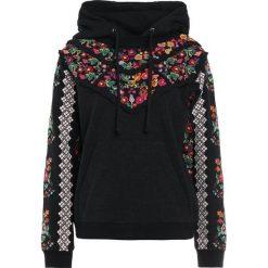 Bluzy rozpinane damskie: Needle & Thread CROSS STITCH  Bluza z kapturem washed black