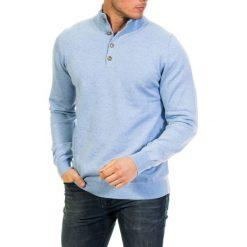 Golfy męskie: Sweter w kolorze jasnoniebieskim