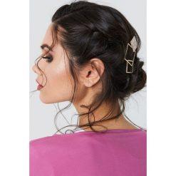 Ozdoby do włosów: NA-KD Accessories Spinka do włosów trzy kwadraty – Gold
