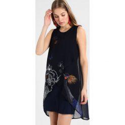 Desigual VEST NATAN Sukienka letnia black/dark blue. Czarne sukienki letnie marki Desigual, z materiału. Za 379,00 zł.
