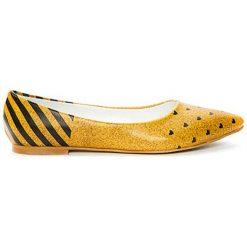 Baleriny damskie: Baleriny w kolorze żółto-czarnym