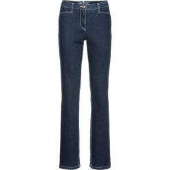 """Dżinsy """"authentik-stretch"""", modelujące sylwetkę STRAIGHT bonprix ciemnoniebieski. Niebieskie jeansy damskie bonprix. Za 109,99 zł."""