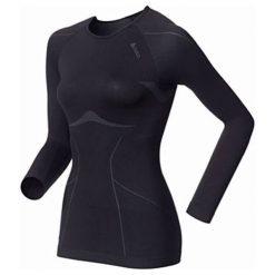 Odlo Koszulka Odlo Shirt l/s crew neck EVOLUTION LIGHT - 181001 - 181001XS. Czarne topy sportowe damskie Odlo, l. Za 189,95 zł.