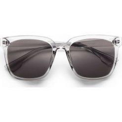 Okulary przeciwsłoneczne bonprix szary. Szare okulary przeciwsłoneczne damskie lustrzane bonprix. Za 34,99 zł.