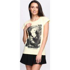 Żółty T-shirt I'm Magical. Żółte bluzki damskie Born2be, l. Za 14,99 zł.