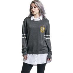 Bluzy rozpinane damskie: Harry Potter Hufflepuff Bluza damska szary/biały
