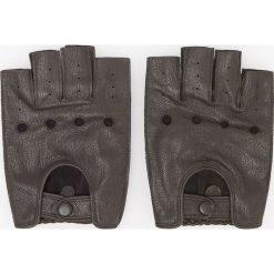 Rękawiczki skórzane - Brązowy. Brązowe rękawiczki męskie Reserved. Za 99,99 zł.