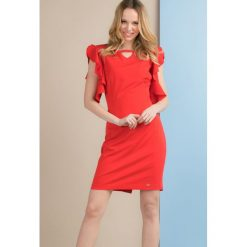Sukienki: Sukienka z falbanami przy rękawach
